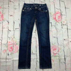 Miss Me sequin pockets straight leg jeans A15